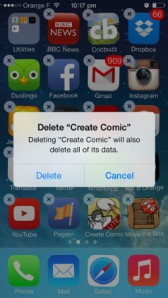 delete Apps from iphone ios7