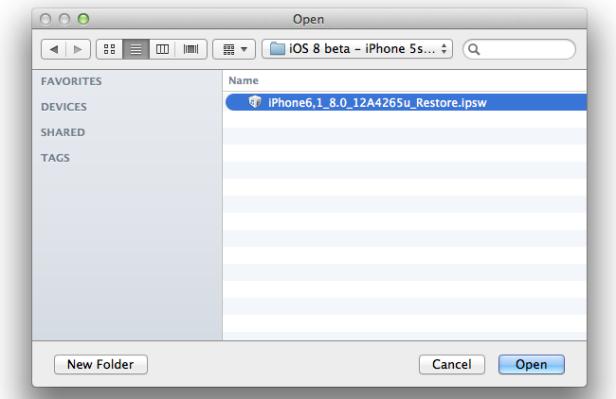 iOS 8 IPSW