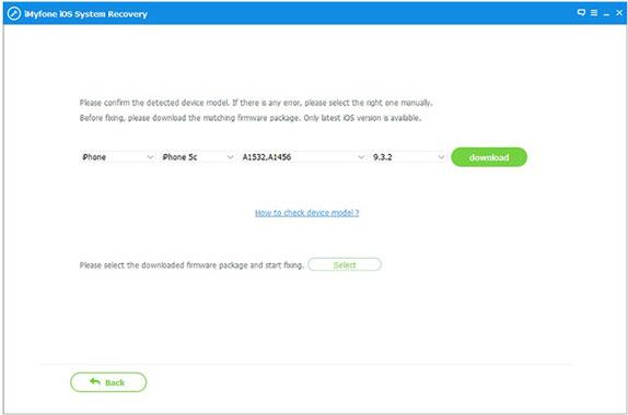 Select iOS Firmware